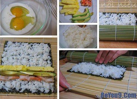 Hướng dẫn cuốn sushi đẹp mắt đúng phong cách Nhật Bản