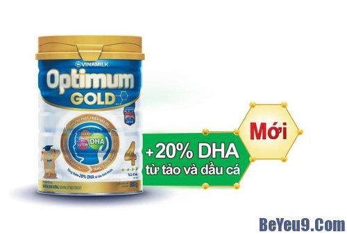 Sữa bột cao cấp Optimum Gold mới với đạm Whey từ sữa giàu Alpha Lactalbumin dễ hấp thu, nay được bổ sung thêm 20% hàm lượng DHA từ tảo tinh khiết, kết hợp cùng Lutein, ARA, Taurin... giúp trẻ thông minh hơn. Đặc biệt, chất lượng của sữa Optimum Gold mới đã được chứng nhận bởi tổ chức UKAS – Anh Quốc.